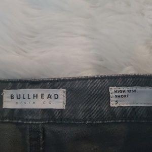 Bullhead Shorts - BULLHEAD HIGH RISE DENIM DISTRESSED SHORTS